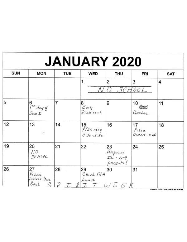Jan Activities
